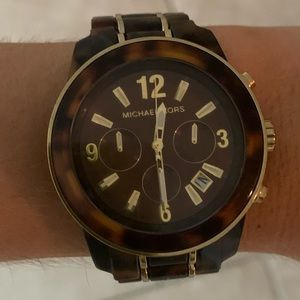 Michael Korda tortoise watch